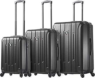 b2cc5db2d Mia Toro Italy Crosetti Hardside Spinner Luggage 3pc Set-Gold, Black