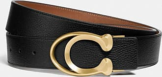 Coach Signature Buckle Belt, 38mm in Black/Brown