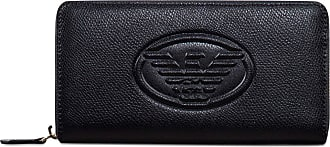 Emporio Armani Embossed Logo Zip Black One Size