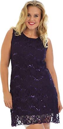 Nouvelle Collection Flapper Lace Dress Purple 20-22