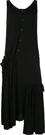 Yohji Yamamoto asymmetric draped dress - Black