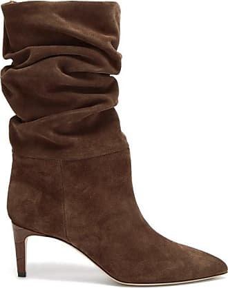 PARIS TEXAS Slouchy Suede Ankle Boots - Womens - Brown