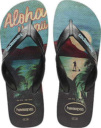 Havaianas Mens HAV Surf Blue Sandal, Black (Citrus Yellow), 5 UK
