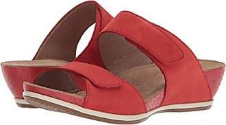 Dansko Womens Vienna Slide Sandal, Tomato Milled Nubuck, 42 M EU (11.5-12 US)