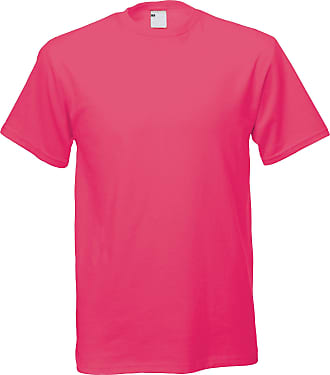 Universal Textiles Mens Short Sleeve Casual T-Shirt (XX Large) (Hot Pink)
