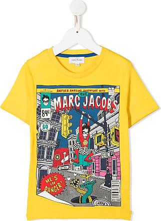 Marc Jacobs Camiseta de algodão com estampa - Amarelo