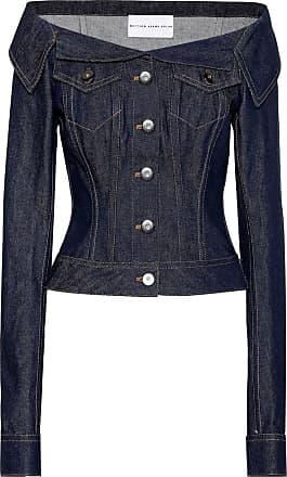 Matthew Adams Dolan Off-the-shoulder denim jacket
