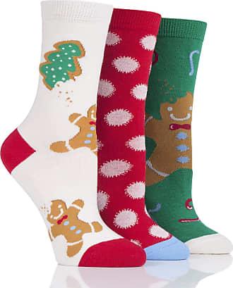 SockShop SockShop Women Wild Feet Gift Boxed Gingerbread Man Cotton Socks Pack of 3 Gingerbread Man