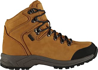 Northwest Tan Brown Suede Leather Womens Hiking Waterproof Boots Shoes UK4-8