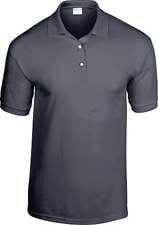 Gildan Gildan Adult DryBlend Jersey Short Sleeve Polo Shirt (2XL) (Dark Heather)