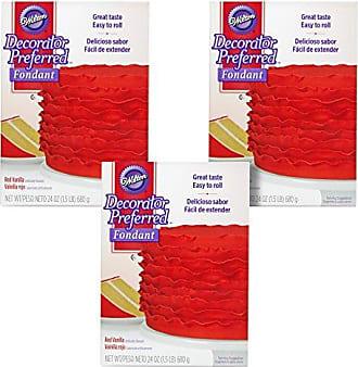 Wilton Decorator Preferred Red Fondant, Multipack of 3