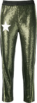 8pm sequin embroidered trousers - Green