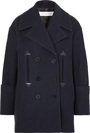 Victoria Beckham Oversized Double-breasted Wool-blend Felt Coat - Midnight blue