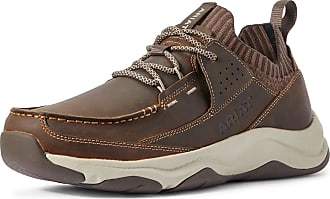 Ariat Mens Country Mile Shoes in Distressed Tan Leather, D Medium Width, Size 10.5, by Ariat