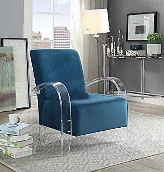 ACME ACME Furniture 59585 Malyssa Accent Chair Teal & Clear Acrylic