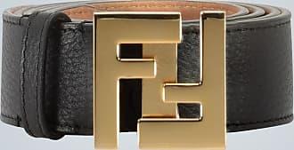Fendi Leather FF buckle belt