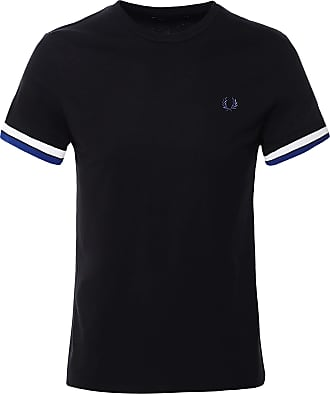 Fred Perry Mens Bold Tipped T-Shirt M7539 102 Black S
