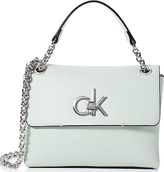 Calvin Klein Re-lock Conv Crossbody Md, Womens Cross-Body Bag, Green (Petal Green), 1x1x1 cm (W x H L)