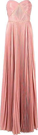 Marchesa long pleated dress - Pink