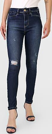 Sawary Calça Jeans Sawary Skinny Desgastas Azul