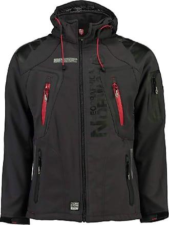 Geographical Norway Mens Softshell Functional Outdoor Jacket Water-Resistant - Grey - Dark Grey, Large