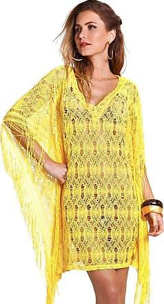 Empress Brasil Túnica Empress Brasil Fringe Renda Amarelo Sunshine