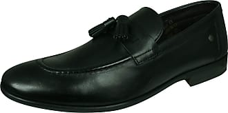 Base London Ritz Mens Slip On Leather Loafers/Shoes-Black-5