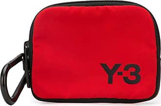 Yohji Yamamoto Carteira com zíper e estampa de logo - Vermelho