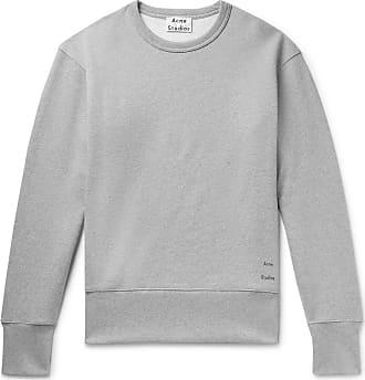 Acne Studios Fayze Logo-print Mélange Loopback Cotton-jersey Sweatshirt - Gray