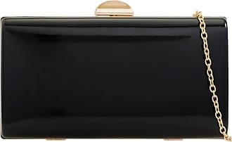 Girly HandBags Girly HandBags Glossy Hard Compact Clutch Bag - Black