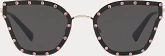 Valentino Valentino Occhiali Crystal Studded Cat-eye Metal Sunglasses Women Black Metal 100% OneSize