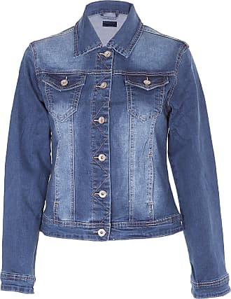 Noroze Womens Washed Detail Denim Jacket (Blue G8241, 10)