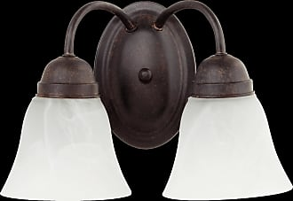 Quorum 2 Light Faux Alabaster Wall Mount in Toasted Sienna