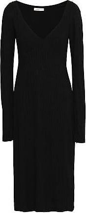 A.L.C. A.l.c. Woman Ribbed-knit Midi Dress Black Size XS