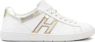 Hogan Sneakers H327, SILBER,WEISS, 35.5 - Schuhe