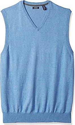 Izod Mens Big and Tall Premium Essentials Solid V-Neck 12 Gauge Sweater Vest, New Revival, 2X-Large