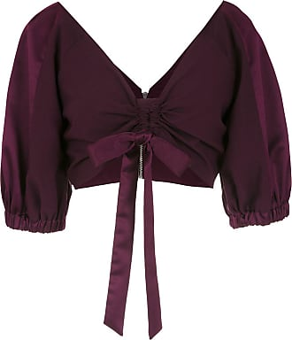 OLYMPIAH Top cropped Tyrian - Roxo