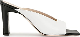 Wandler Sandália mule color block - Branco