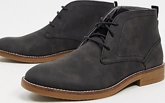Burton Menswear leather chukka boot in grey