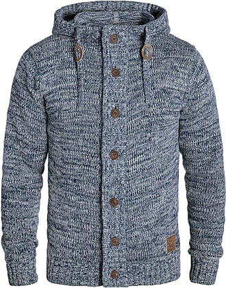 Solid Pierrot Mens Hooded Jacket Zip, Size:XL, Colour:Insignia Blue (1991)