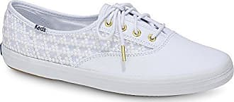 Keds Womens Champion Embroidered Triangle Sneaker, White, 11 M US
