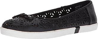 Kenneth Cole Reaction Womens Row-ing 2 Slip On Skimmer Flat with Bow Detail Ballet, Black, 10 M US