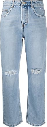 Msgm high-rise straight jeans - Blue