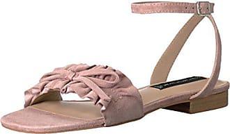 Steven by Steve Madden Womens Cassiel Flat Sandal, Blush Suede, 8.5 M US