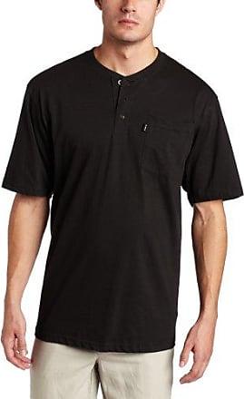 Key Apparel Mens Heavyweight 3-Button Long Sleeve Henley Pocket T-Shirt