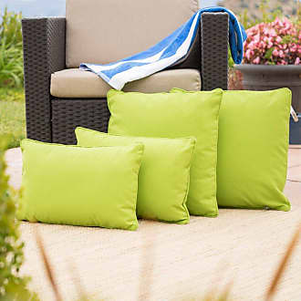 BEST SELLING HOME Coronado Outdoor Water Resistant Pillows - Set of 4 Green - 300764