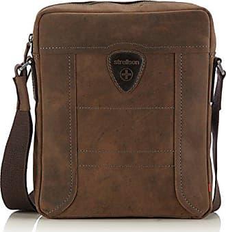Strellson Hunter Shoulderbag L, Borsa A Tracolla da uomo, marrone (dark  brown 702 bc49ca3201d