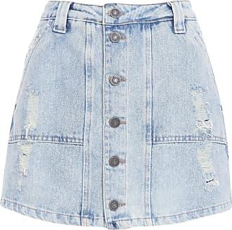 Cantão Saia Short Jeans Sutilitário - Azul