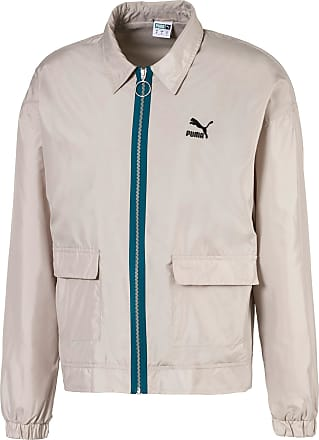 Puma Lightweight Woven Mens Jacket, Dove, size 2X Large, Clothing