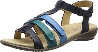 Hotter Womens Sol EXF Open-Toe Sandals, Blue (Navy Multi), 9 UK 43 EU